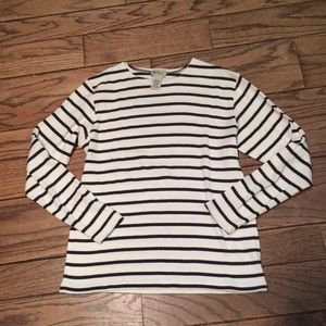 L. L. Bean cotton striped sweater